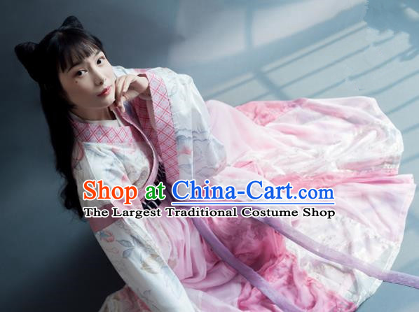 Chinese Traditional Han Dynasty Young Lady Historical Costumes Ancient Princess Hanfu Dress for Women