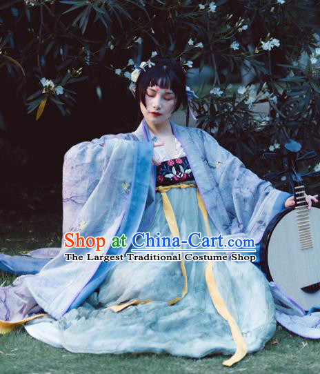 Chinese Traditional Tang Dynasty Princess Historical Costumes Ancient Imperial Concubine Embroidered Hanfu Dress for Women