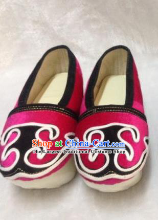 Chinese Traditional Shoes Ancient Beijing Opera Niche Shoes Hanfu Pink Shoes for Men