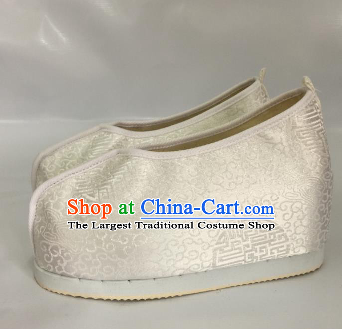 Traditional Chinese Shoes Ancient Princess Shoes Hanfu Wedding Shoes Opera White Shoes for Women
