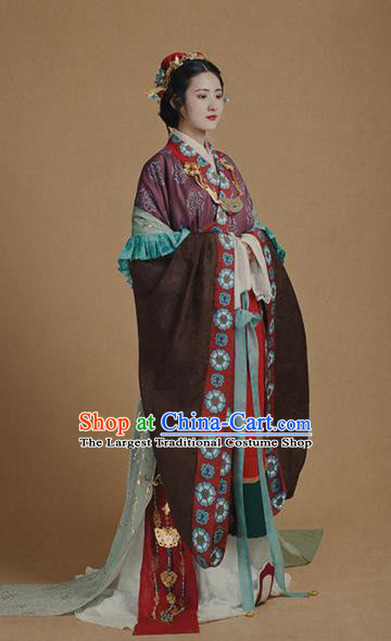 Chinese Traditional Han Dynasty Imperial Concubine Historical Costumes Ancient Peri Hanfu Dress for Women