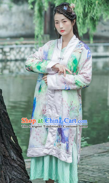 Chinese Traditional Costumes National Coat Green Silk Tang Suit Overcoat for Women