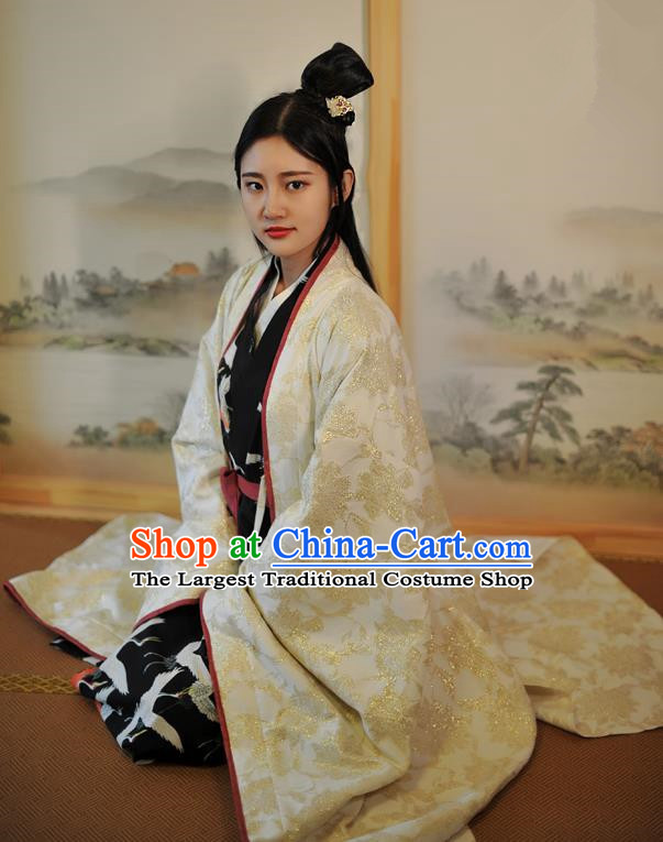 Traditional Chinese Ancient Aristocratic Lady Peri Hanfu Dress Han Dynasty Historical Costumes for Women
