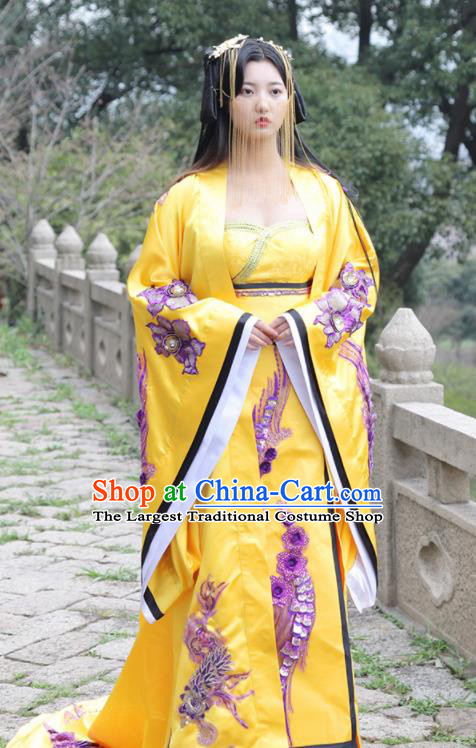 Traditional Chinese Ancient Drama Peri Costumes Tang Dynasty Imperial Consort Hanfu Dress for Women