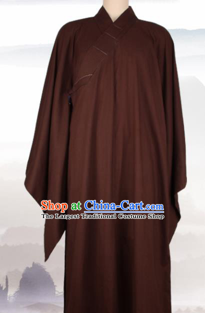 Chinese Traditional Buddhist Monk Clothing Brown Monk Robe Buddhism Monks Costumes for Men