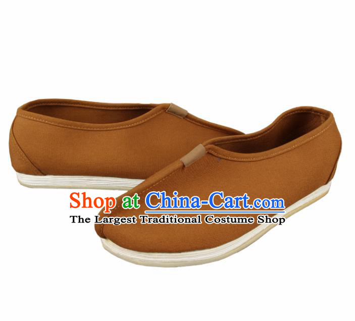 Chinese Traditional Buddhist Monk Shoes Buddhism Monks Cloth Shoes for Men