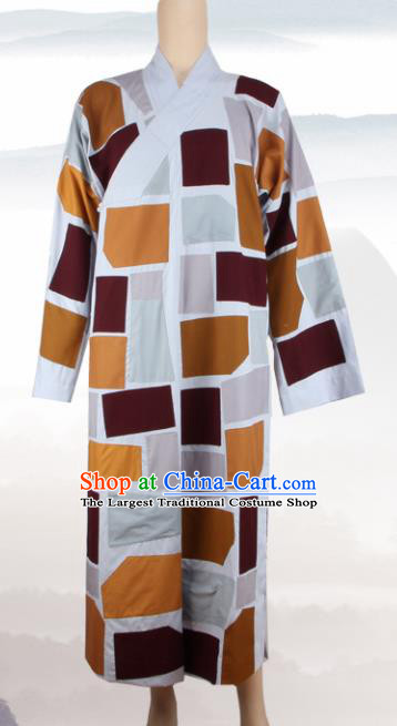 Chinese Traditional Buddhist Monk Patches Robe Buddhism Dharma Assembly Monks Costumes for Men