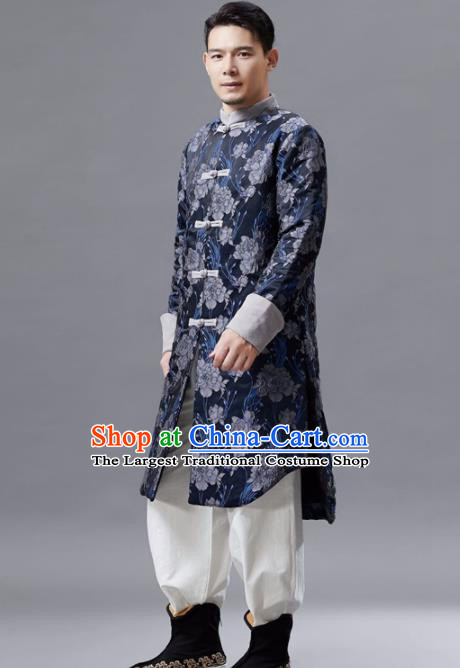 Chinese Traditional Costume Tang Suits Coat National Mandarin Shirt for Men