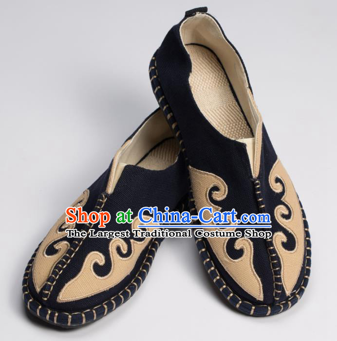 Chinese Traditional Martial Arts Shoes Kung Fu Shoes Linen Monk Shoes for Men