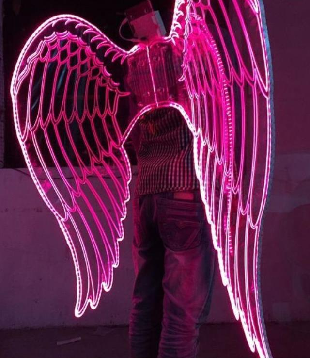 Top LED Lights Luminous Big Wings Butterfly Dance Costumes Butterfly Dancing Costume Dress Wear Complete Set