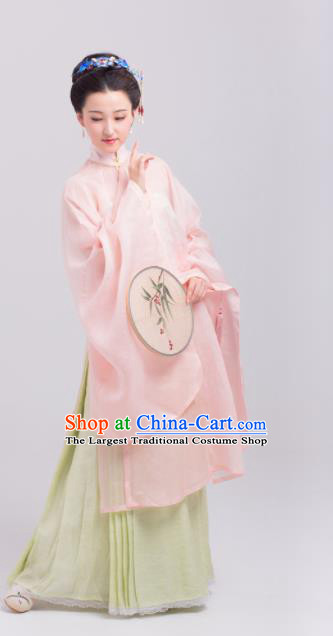 Chinese Traditional Ming Dynasty Imperial Consort Historical Costumes Ancient Palace Silk Hanfu Dress for Women