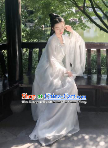 Chinese Traditional Tang Dynasty Princess Hanfu Dress Ancient Palace Historical Costumes for Women