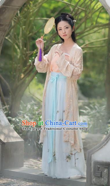 Chinese Traditional Song Dynasty Rich Lady Hanfu Dress Ancient Nobility Historical Costumes for Women