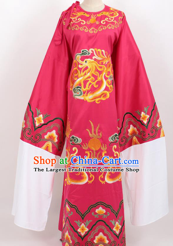 Professional Chinese Traditional Beijing Opera Niche Rosy Ceremonial Robe Ancient Number One Scholar Costume for Men