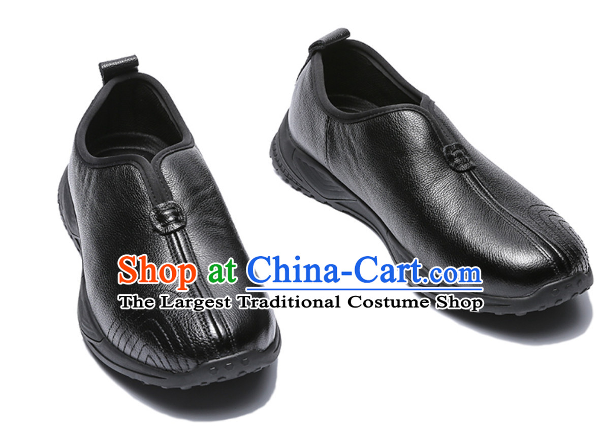 Chinese Classical Warrior Black Shoes Boots for Men
