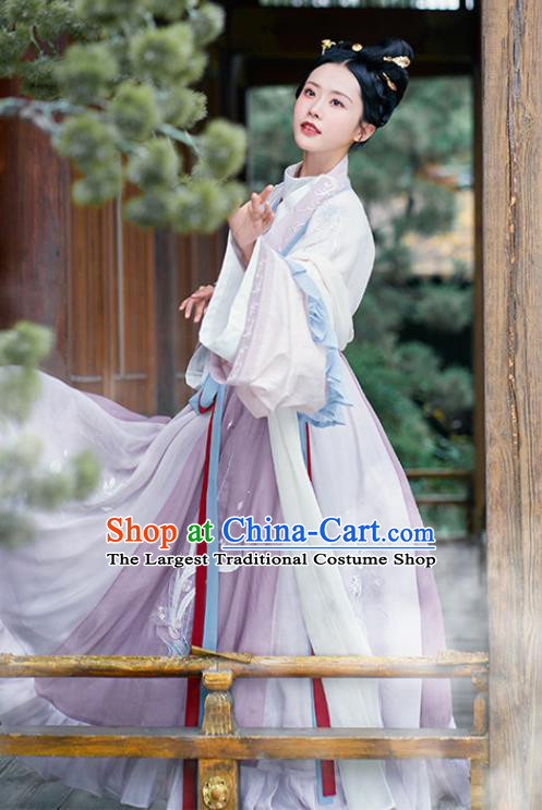 Asian Chinese Jin Dynasty Palace Lady Hanfu Dress Traditional Ancient Imperial Concubine Goddess Costumes for Women