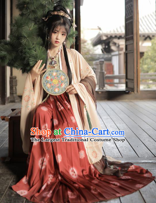 Asian Chinese Tang Dynasty Palace Lady Hanfu Dress Traditional Ancient Princess Imperial Concubine Costumes for Women