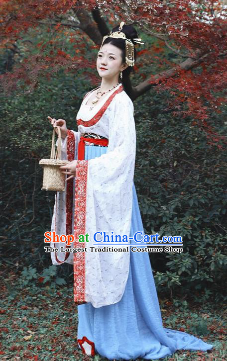 Asian Chinese Tang Dynasty Royal Empress Hanfu Dress Traditional Ancient Goddess Imperial Concubine Costumes for Women