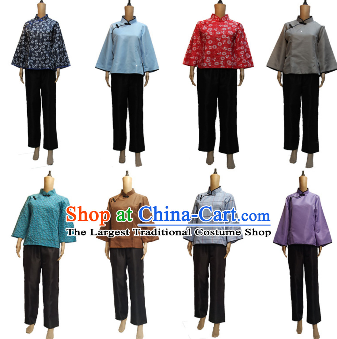 Traditional Chinese Poor People Costume Farmer Costumes Chinese Civilian Costumes for Women