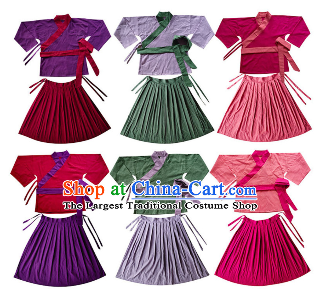 Ancient Chinese Female Servant Costumes Poor People Clothes Costume Farmer Costumes Chinese Civilian Costumes for Women