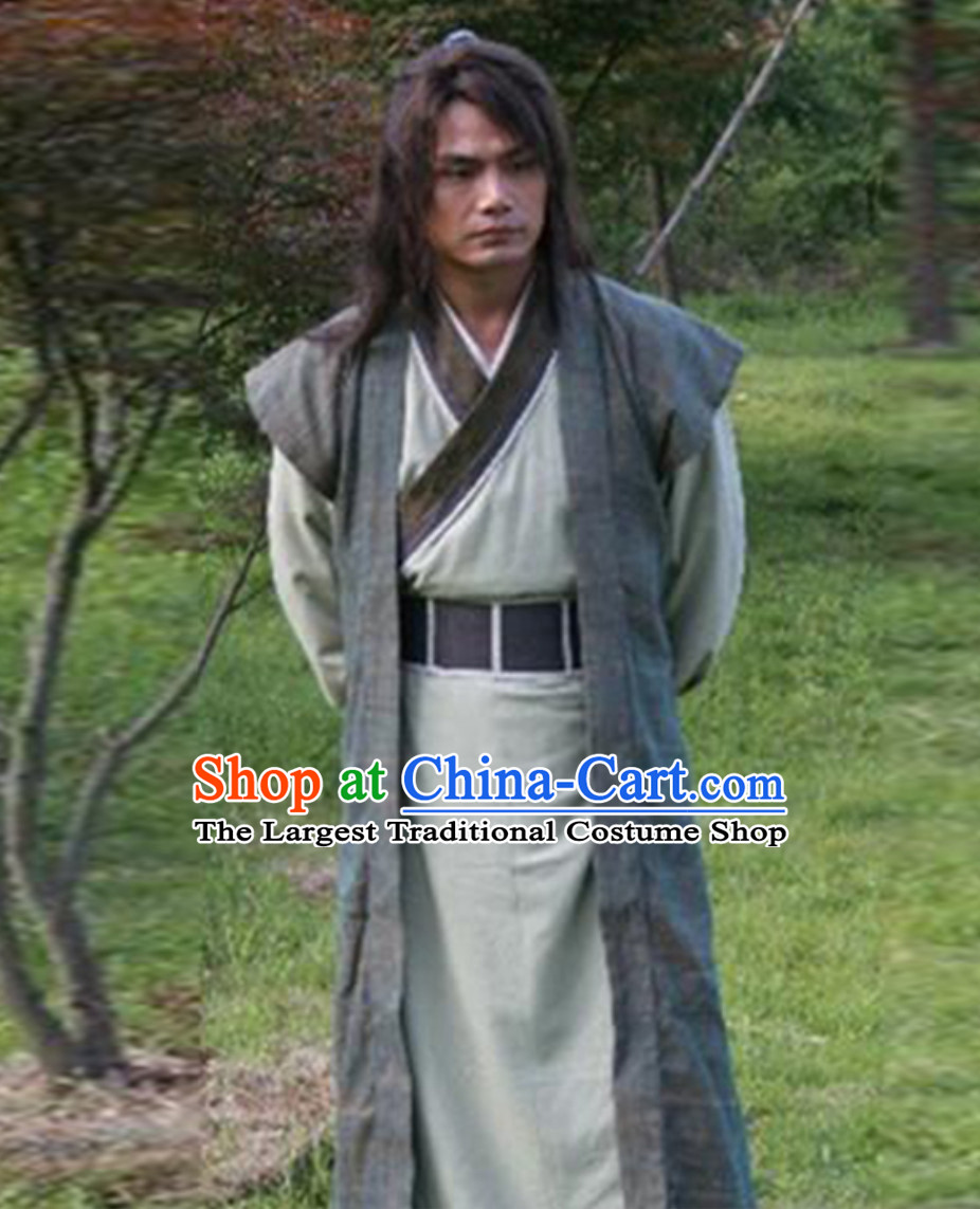 Ancient Chinese Traditional China Male Civilian Costumes Common People Hanfu Costumes for Men
