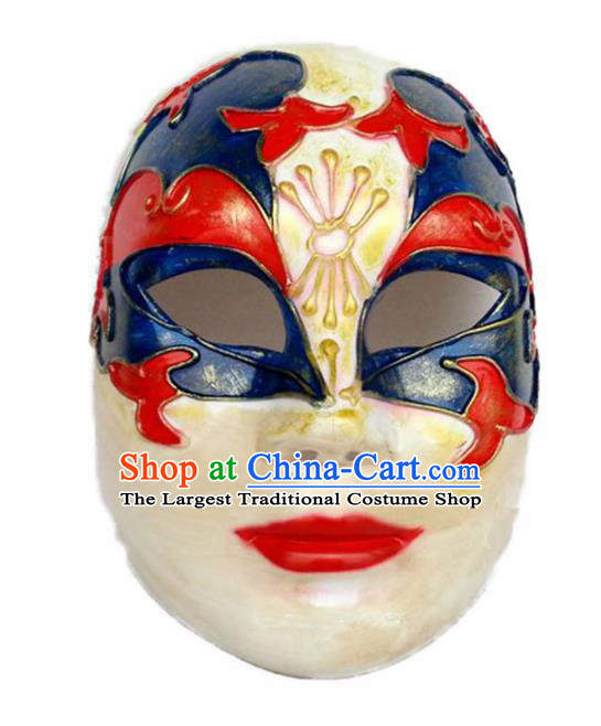 Handmade Halloween Cosplay Clown Mask Fancy Ball Stage Show Face Masks Accessories for Men