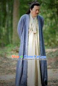 Chinese Ancient Mythlegend Emperor Fuxi Father God First Ancestor Fuxi Shi Tai Hao Costumes Complete Set