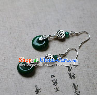 Chinese Traditional Hanfu Peace Buckle Ear Accessories Ancient Tang Dynasty Princess Earrings for Women