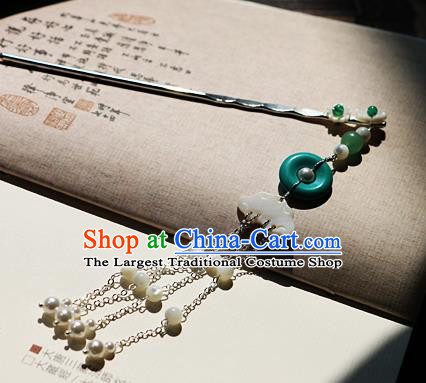 Chinese Ancient Song Dynasty Imperial Consort Tassel Hairpins Traditional Hanfu Court Hair Accessories for Women