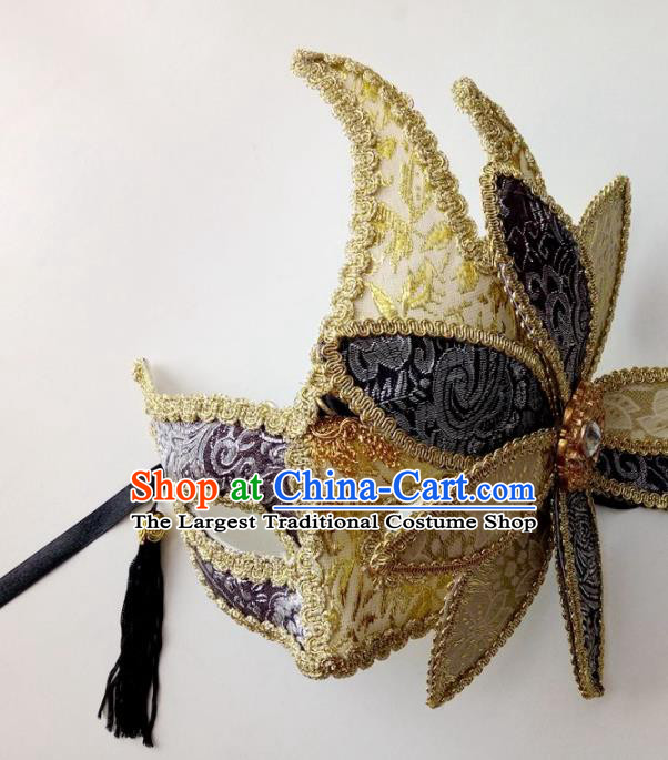 Handmade Halloween Venice Carnival Mask Fancy Ball Cosplay Stage Show Face Masks Accessories for Women