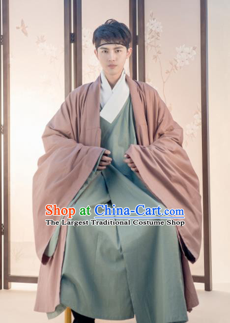 Traditional Chinese Ming Dynasty Replica Costumes Ancient Taoist Hanfu Clothing for Men