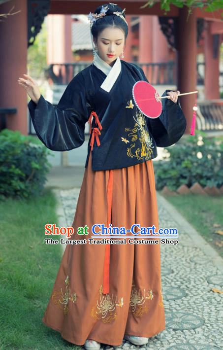 Traditional Chinese Ming Dynasty Rich Lady Replica Costumes Ancient Court Princess Hanfu Dress for Women