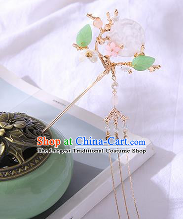 Chinese Ancient Tang Dynasty Princess Shell Moon Hairpins Traditional Hanfu Court Hair Accessories for Women