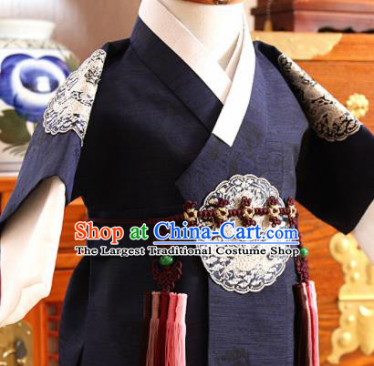 Traditional Korean Hanbok Waist Accessories Asian Korea Fashion Apparel Brown Belts for Kids