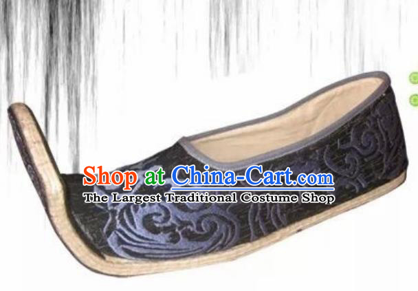 Chinese Kung Fu Shoes Mens Shoes Opera Shoes Hanfu Shoes Qin Dynasty Embroidered Shoes Monk Shoes