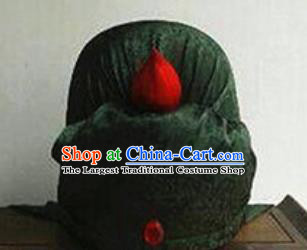 Chinese Traditional Handmade Three Kingdoms Period Civilian Black Hat Ancient Drama Swordsman Headwear for Men
