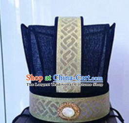 Chinese Traditional Handmade Han Dynasty Hat Ancient Drama Minister Headwear for Men