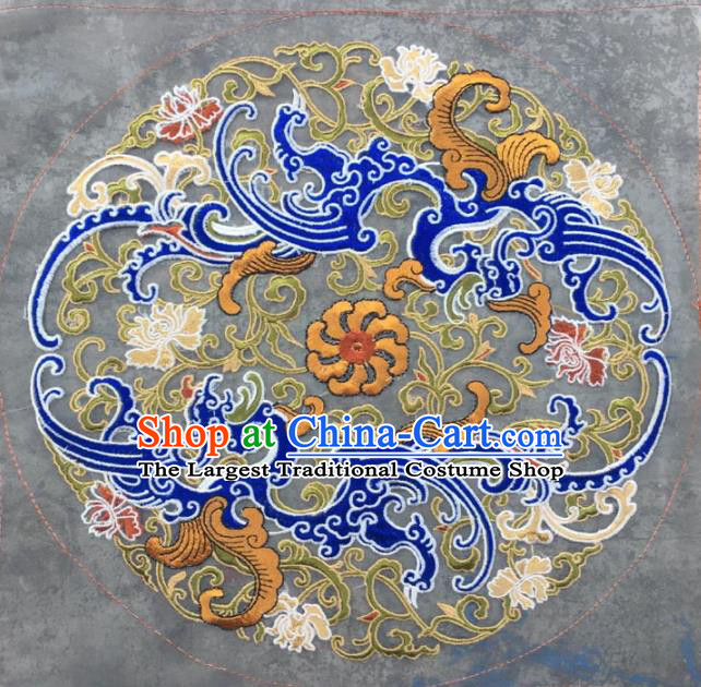 Chinese Traditional Embroidery Cloth Accessories National Embroidered Cloud Dress Patch