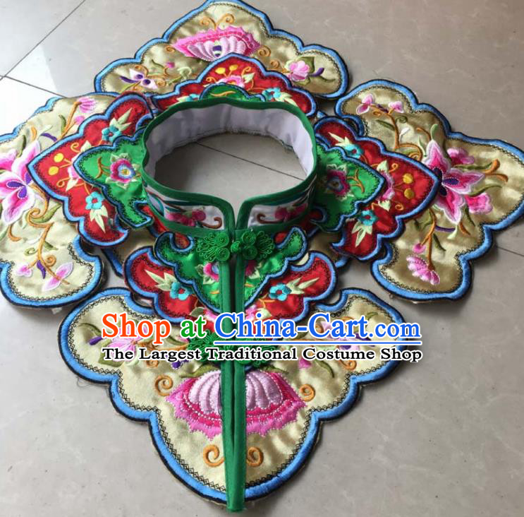 Chinese Traditional Embroidery Butterfly Yellow Shoulder Accessories National Embroidered Cloud Patch