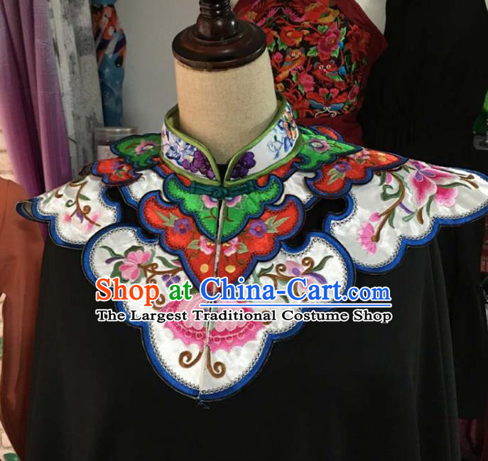 Chinese Traditional Embroidery Butterfly White Shoulder Accessories National Embroidered Cloud Patch