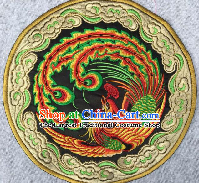 Chinese Traditional Embroidered Cloud Phoenix Applique National Dress Patch Embroidery Cloth Accessories