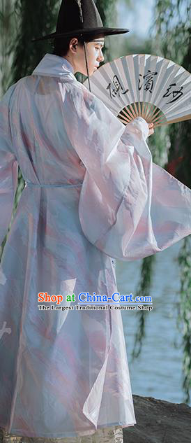Traditional Chinese Ming Dynasty Nobility Childe Hanfu Clothing Ancient Taoist Priest Historical Costumes for Men