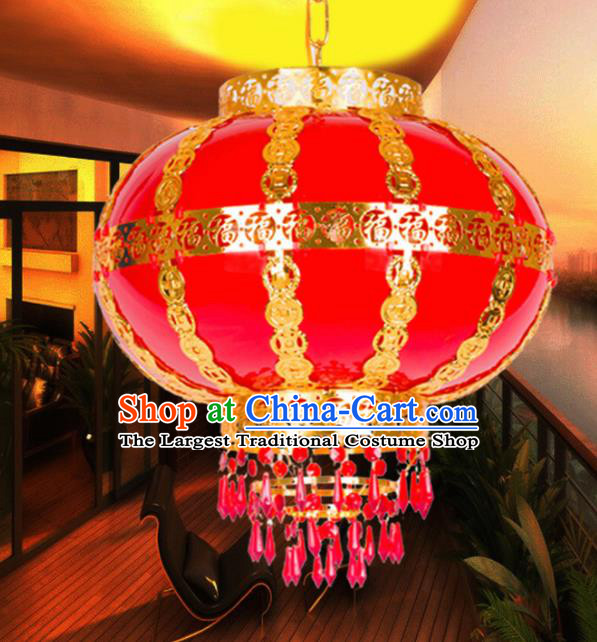 Handmade Traditional Chinese New Year Red Lantern Hanging Lantern Asian Palace Ceiling Lanterns Ancient Lantern