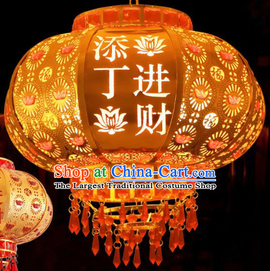 Handmade Traditional Chinese New Year Golden Lantern Hanging Lantern Asian Palace Ceiling Lanterns Ancient Lantern