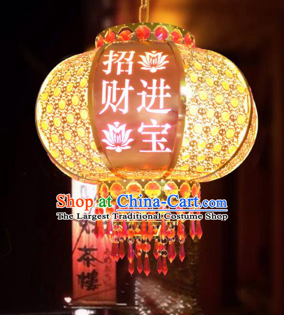 Handmade Chinese Traditional New Year Crystal Palace Lantern Hanging Lantern Asian Ceiling Lanterns Ancient Lamp