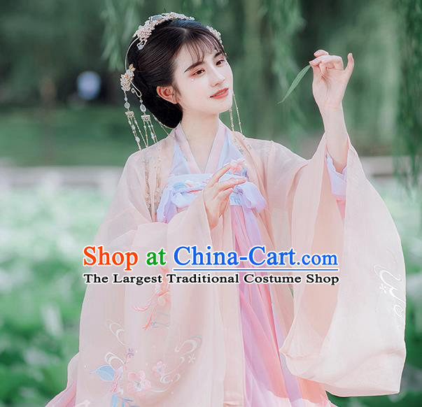 Traditional Chinese Tang Dynasty Imperial Consort Hanfu Dress Ancient Royal Princess Historical Costumes for Women
