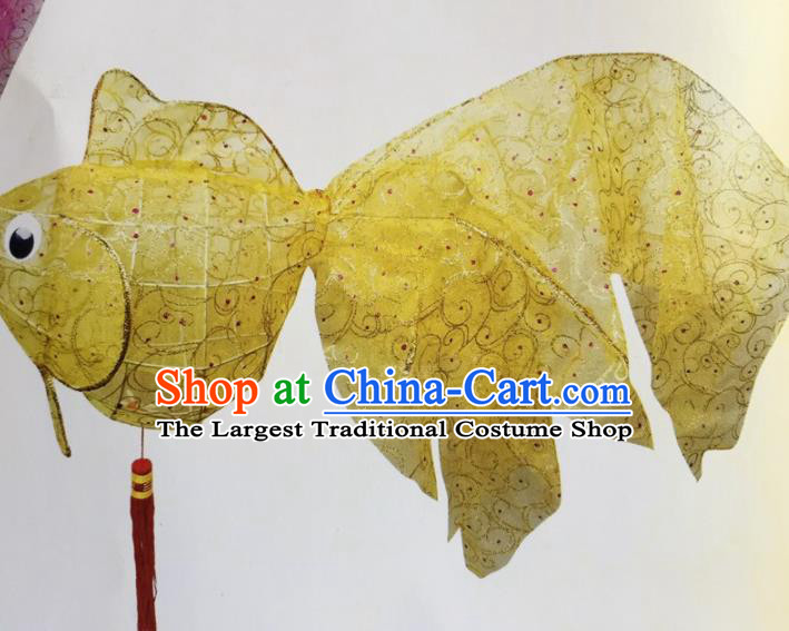 Chinese Traditional New Year Goldfish Palace Lantern Handmade Hanging Lantern Asian Ceiling Lanterns Ancient Lamp