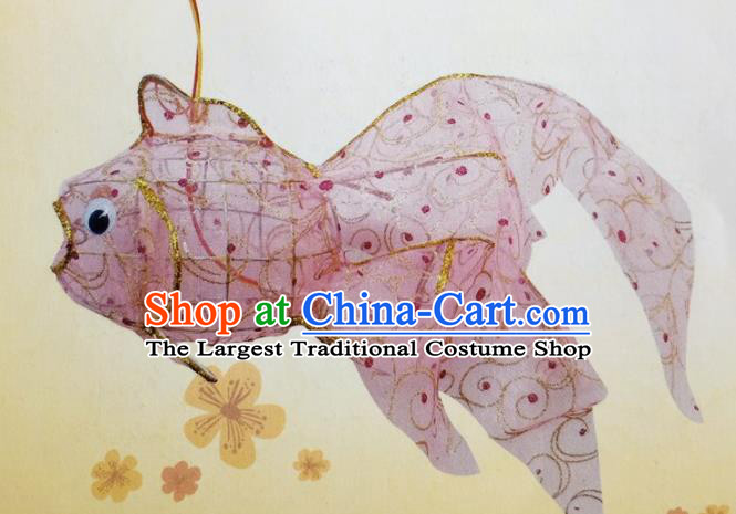 Chinese Traditional New Year Pink Palace Lantern Handmade Hanging Lantern Asian Ceiling Lanterns Ancient Lamp