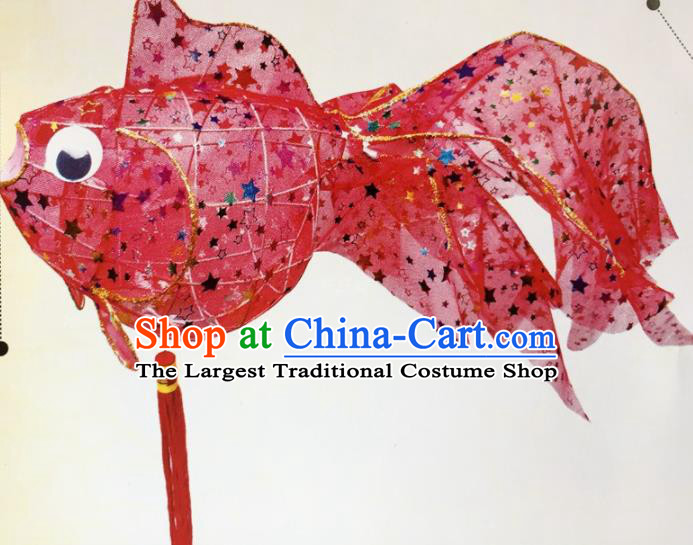 Chinese Traditional New Year Rosy Paillette Palace Lantern Handmade Hanging Lantern Asian Ceiling Lanterns Ancient Lamp