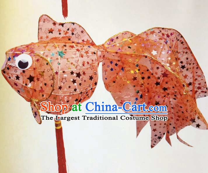 Chinese Traditional New Year Orange Paillette Palace Lantern Handmade Hanging Lantern Asian Ceiling Lanterns Ancient Lamp